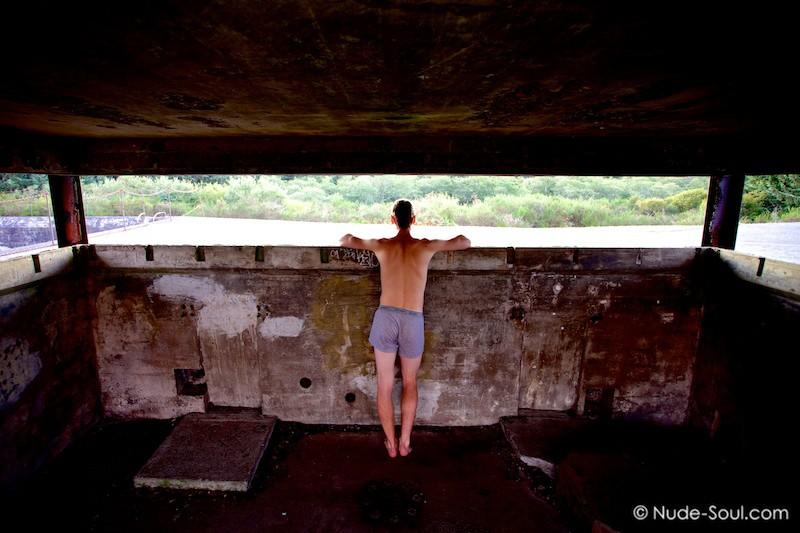 Bunker: Self portrait male photo art