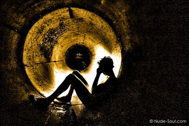 Golden Tunnel Darkness