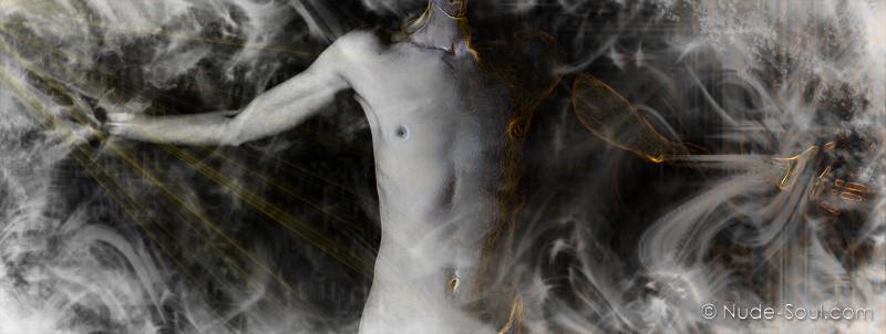 Male Torso Digital Art – Bust
