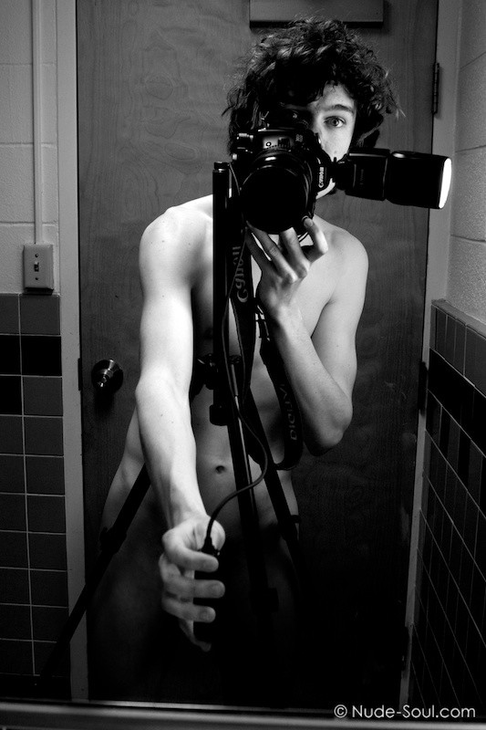 Self Portrait Male Photo Art - Naked Within Walls And -5813